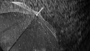 heavy rain umbrella wallpaper