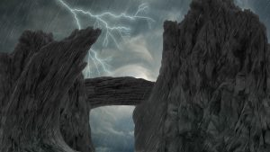 storm over a cliff wallpaper